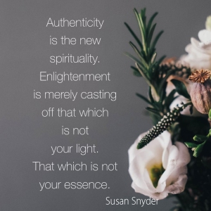 authenticity is spirituality